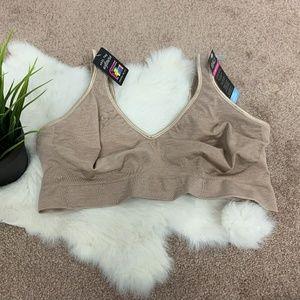 Bali Bra Cool Comfort Fabric Tan Sz: XL